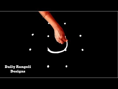 Small Simple Kolam| Easy Muggulu with 4X2X2 Dots |Varalakshmi Vratham |Peacock Rangoli Designs #1167