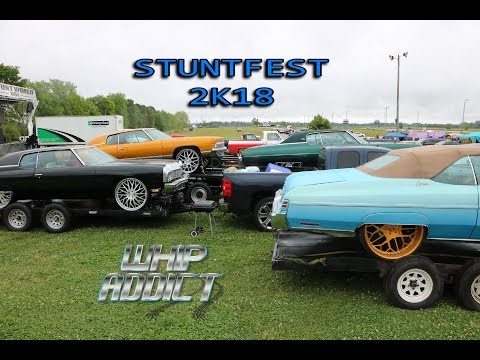 WhipAddict: Stuntfest 2K18 Car Show & Grudge Race, Big Rim Racing, Custom Cars, Donks