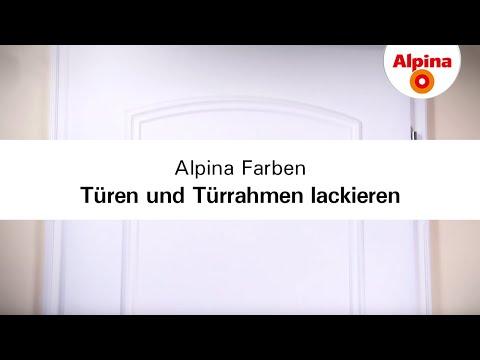 Alpina Farben - Türen und Türrahmen lackieren
