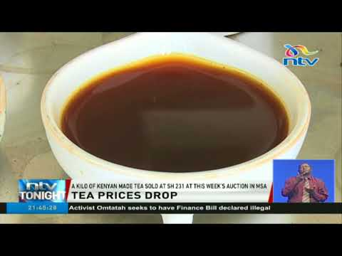 Price of Kenyan tea at  Mombasa auction drops by six shillings