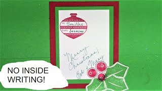 How to Make an Insert Card - No Writing Inside Christmas Card