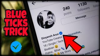 Gambar cover How to get the Blue Tick on Instagram Instantly ? 🔥🔥🔥 ✔