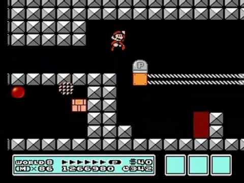 Super Mario Bros 3 Walkthrough - World 8: Bowser's Castle Pt  1/2 by