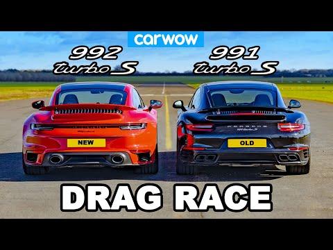 Porsche 911 Turbo S 992 v 991 - DRAG RACE *New v Old*