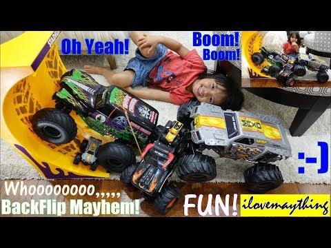 Children S Toy Trucks Monster Trucks Backflip Stunts