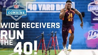 Wide Receivers Run the 40-Yard Dash | 2019 NFL Scouting Combine Highlights