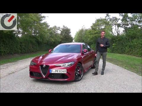 Alfa Romeo Giulia Quadrifoglio 375 kW / 510 PS: Test / Fahrbericht / Review