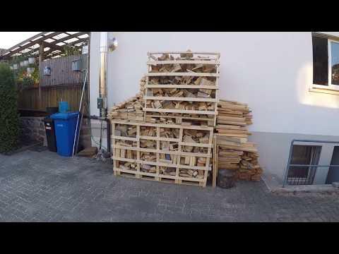 Paletten Holz sägen !