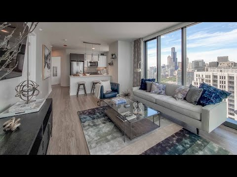 A -12 South Loop 2-bedroom corner model at The Paragon