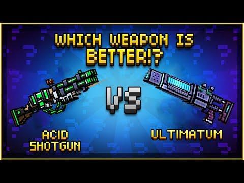 Acid Shotgun VS Ultimatum - Pixel Gun 3D
