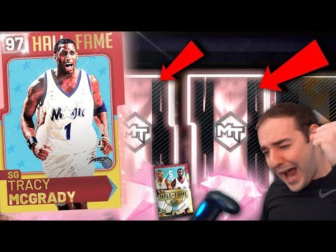 NBA 2K19 My Team PINK DIAMOND TMAC IN PACKS! HALL OF FAME PACK OPENING!!!