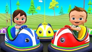 Kids Funny Educational - Little Baby Boy & Girl Fun Play Bumper Cars Dashing 3D Kids Learning Videos