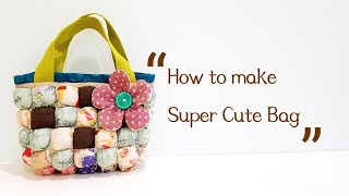 How to sew bubble puff quilt into super cute bag 【泡芙拼布包】这样的设计太可爱了吧!#HandyMum ❤❤