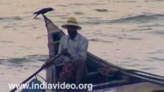 Fishing in country boats at Nattika beach