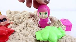 Masha Kinetik Kumda Oynuyor eğlenceli Videolar