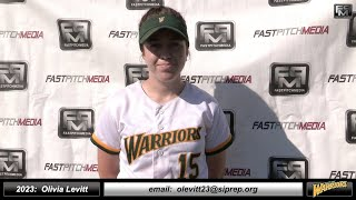 2023 Olivia Levitt 4.0 GPA Athletic Shortstop Softball Skills Video + Game Footage West Bay Warriors