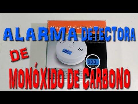 Alarma detectora de monóxido de carbono