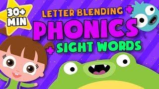 Letter Blending + sight words + Phonics | READING LESSONS for Kids