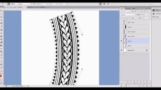 Proper Wrist Band Tattoo Shapes In Photoshop