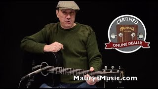 The Martin OMCXAE Black At Maurys Music