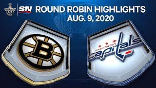 NHL Highlights | Bruins Vs. Capitals, Round Robin - Aug. 09, 2020