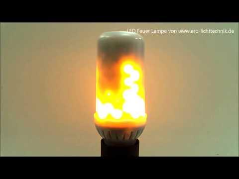 LED Feuer Lampe / Fire Lamp / Fackel Effekt von ERO LICHTTECHNIK