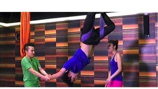 TVB 節目「Y angle - 潮爆新體驗」Master Dickson 教你空中瑜伽 (Part 1)