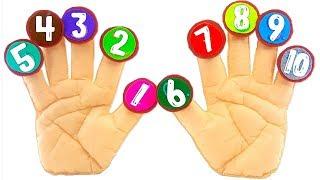 Посчитай пальчики с героями мультика Три кота. Учим цифры с развивающей игрушкой в игровой форме