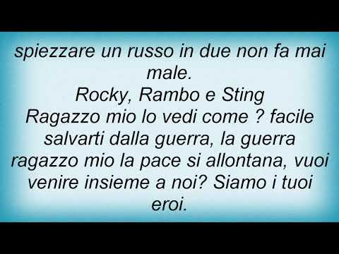 , title : 'Antonello Venditti - Rocky, Rambo E Sting Lyrics'