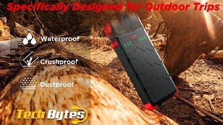 OUTXE W20 | Wireless Power Bank Solar | Techbytes