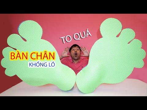 Làm Bàn Chân Khổng Lồ ♥ Bé Bún – Bé Bắp ♥ DIY Giant feet toys