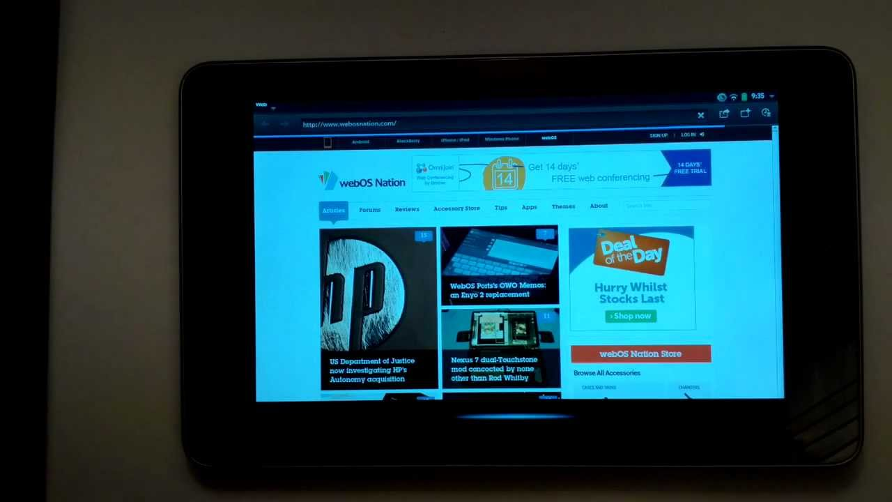 Here's HP's WebOS Running On A Nexus 7