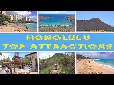 Video Honolulu Top Attractions - Oahu, Hawaii 4K