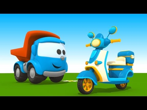 Leo Junior baut einen Motorroller - Cartoon für Kinder