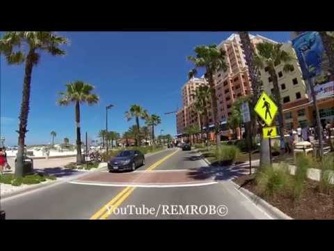 Driving Clearwater Beach, Florida Spring