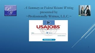 Summary on Federal Resume Writing