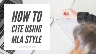 How to Cite Using MLA Style