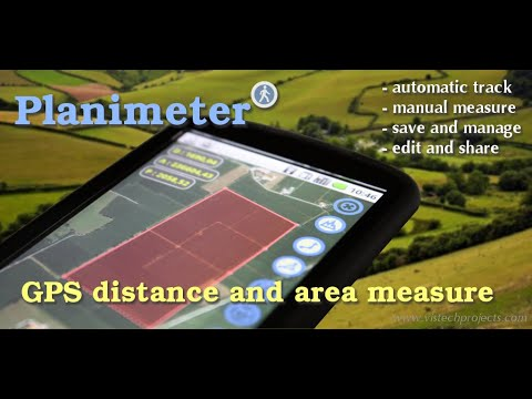 Vídeo do Planimeter medir área num mapa