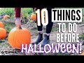 10 Things To Do Before Halloween! Halloween To Do List!
