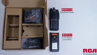RCA RDR4300 Series Two-Way Radio Unboxing Video