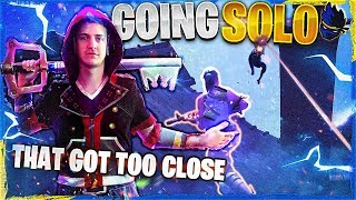 THAT GOT TOO CLOSE!? PLAYING SOLOS! (Fortnite: Battle Royale)