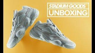 "adidas Yeezy 500 ""Salt""   Stadium Goods Unboxing"