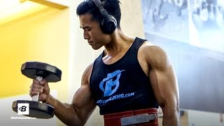 Quick Back and Biceps Attack | Jeremy Sry's Back & Arms Workout by Bodybuilding.com