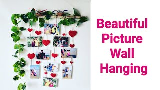 DIY Unique Wall Hanging Idea For Bedroom/Valentines Day Picture Wall Decoration From Waste Materials