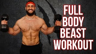 12 Minute Home Full Body Workout Using Only Dumbbells (Build Muscle With This Dumbbell Workout!!) by BarbarianBody