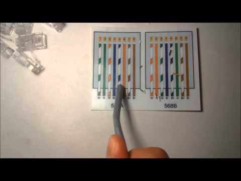 Construcción de un cableado Directo y Cruzado con cable UTP!!