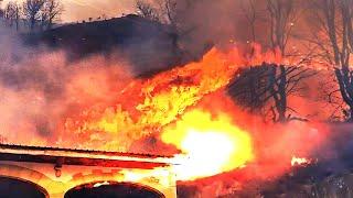 Hiszpania :Duży pożar w Bera, Navarra, poza kontrolą, ewakuacja wioski.