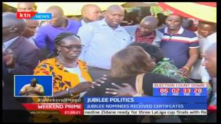Governor Jackson Mandago and Woman Rep. Aspirant Gladys Shollei reach out to nomination losers