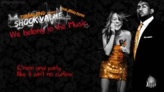 Timbaland feat. Miley Cyrus - We belong to the Music (with Lyrics on Screen)