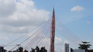 Wajah Ikon Baru Tugu Keris Solo Setinggi 25 Meter yang Berdiri di Samping Jembatan Tirtonadi Solo